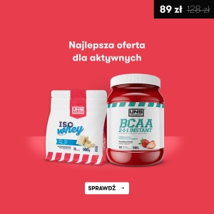 UNS BCAA 2:1:1 INSTANT 500G + GRATIS ISO WHEY 500G